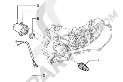 Piaggio Hexagon LX 1998-2005 Motor de arranque
