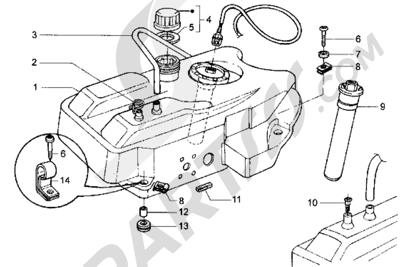 Piaggio Hexagon LX 1998-2005 Tanque carburante