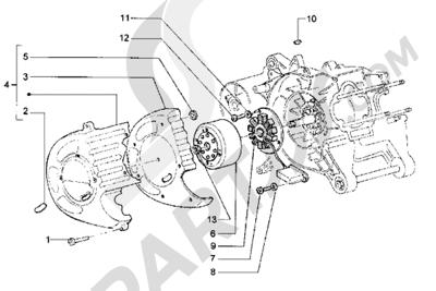 Piaggio Hexagon LX 1998-2005 Volante magnetico