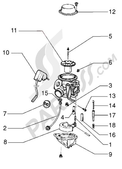Piaggio HEXAGON LX4 HASTA 1997 Carburador