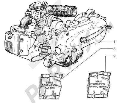Piaggio HEXAGON LX4 HASTA 1997 Motor