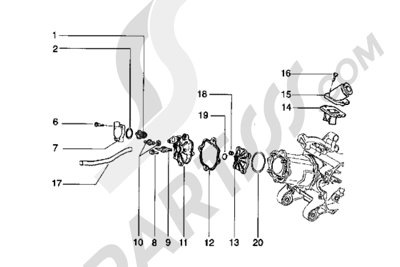 Piaggio Hexagon LXT 1998-2005 Culata y racor de admision
