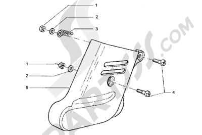 Piaggio Hexagon LXT 1998-2005 Tapa amortiguador trasero