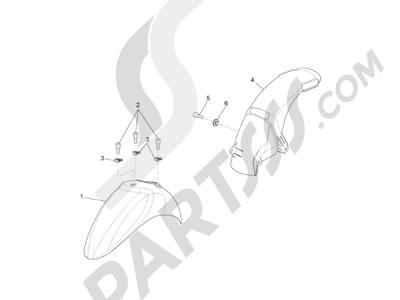 Piaggio Liberty 100 4T (Vietnam) 2011-2014 Alojamiento rueda - Guardabarros
