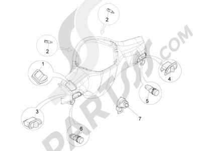 Piaggio Liberty 100 4T (Vietnam) 2011-2014 Conmutadores - Conmutadores - Pulsadores - Interruptores