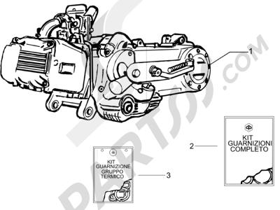 Piaggio Liberty 100 4T (Vietnam) 2011-2014 Motor completo