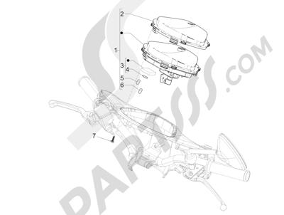 Piaggio Liberty 100 4T (Vietnam) 2011-2014 Tablero de instrumentos - Cruscotto