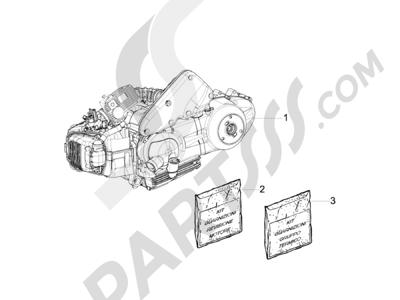 Piaggio Liberty 125 4T 2V ie E3 (Vietnam) 2011-2012 Motor completo