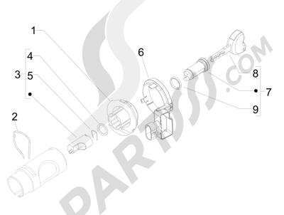 Piaggio Liberty 125 4T 3V ie E3 2013 - 2014 Cerraduras