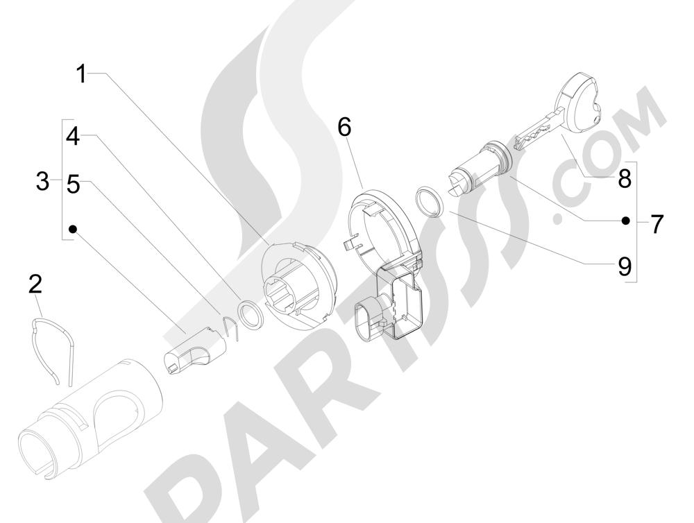 Cerraduras Piaggio Liberty 125 4T 3V ie E3 2013 - 2014