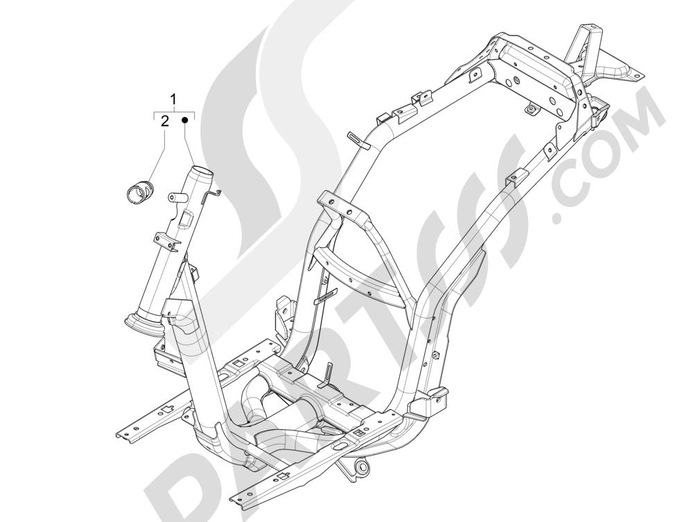 Chasis carrocería Piaggio Liberty 125 4T 3V ie E3 2013 - 2014