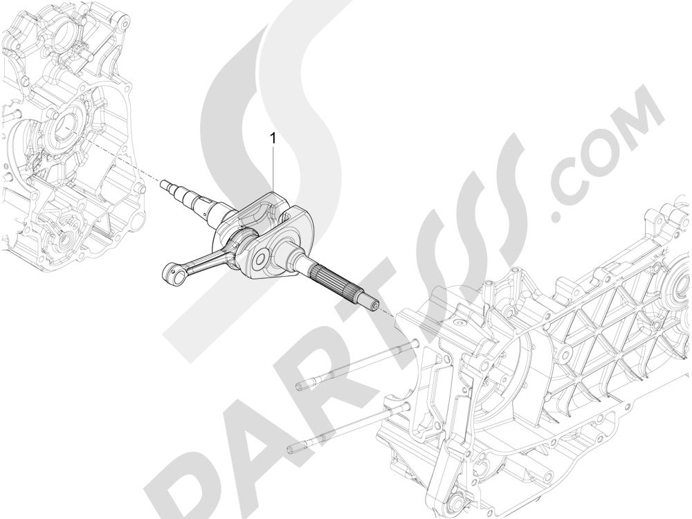 Cigüeñal Piaggio Liberty 125 4T 3V ie E3 2013 - 2014