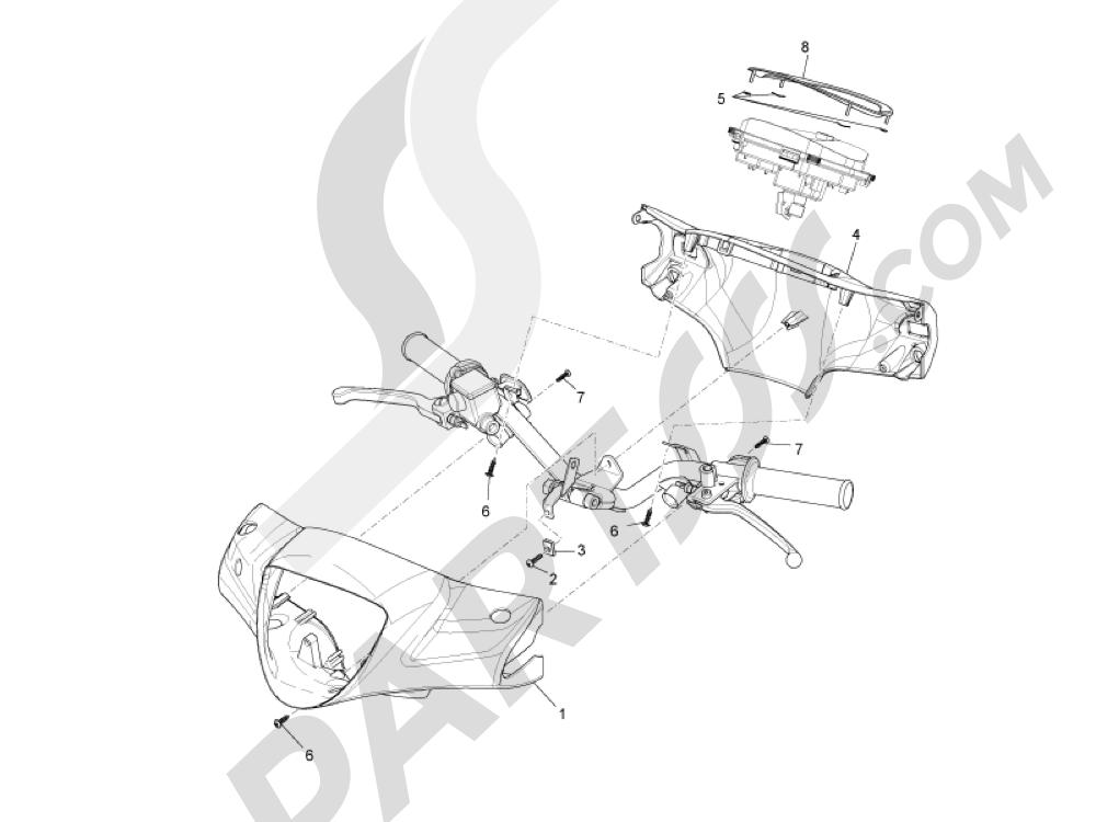 Coberturas manillar Piaggio Liberty 125 4T 3V ie E3 2013 - 2014