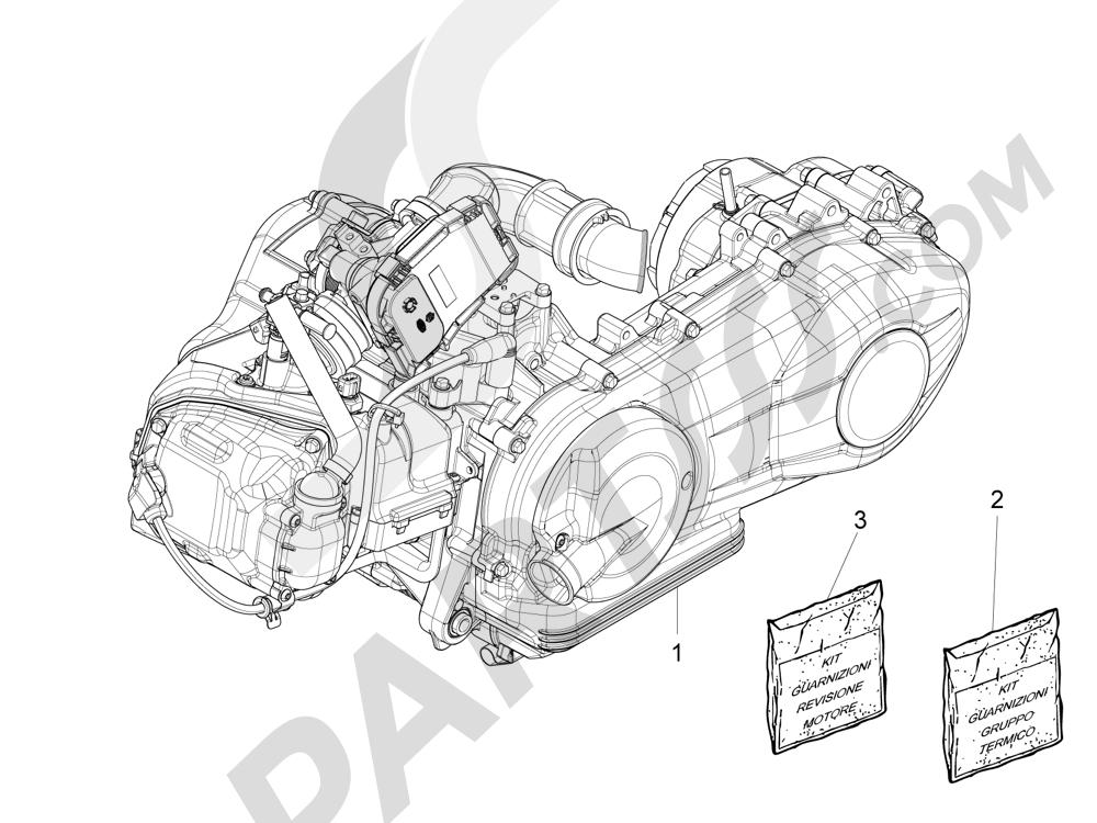 Motor completo Piaggio Liberty 125 4T 3V ie E3 2013 - 2014