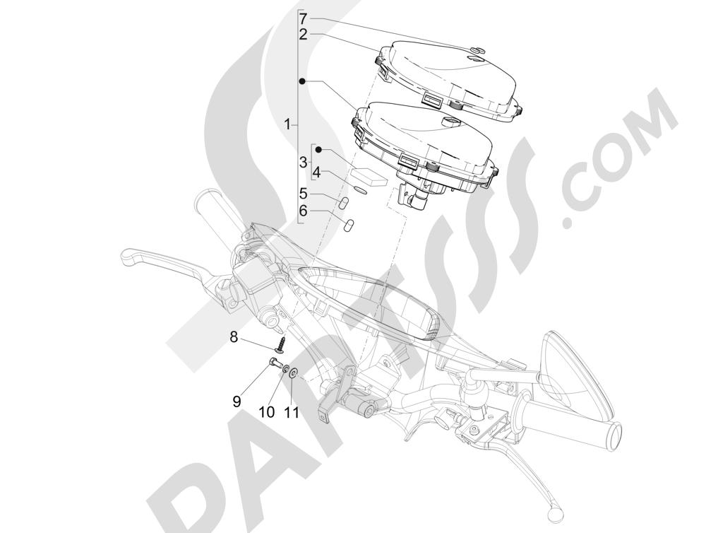 Tablero de instrumentos - Cruscotto Piaggio Liberty 125 4T 3V ie E3 2013 - 2014
