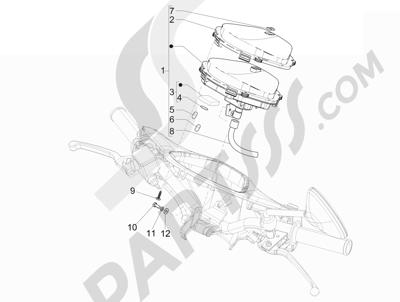 Piaggio Liberty 125 4T 3V ie E3 (Vietnam ) 2013-2014 Tablero de instrumentos - Cruscotto