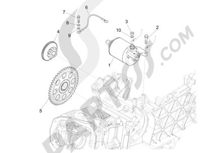 Piaggio Liberty 125 iGet 4T 3V ie ABS (APAC) 2015 Arranque - Arranque electrico