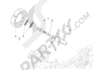 Piaggio Liberty 125 iGet 4T 3V ie ABS (APAC) 2015 Freno trasero - Zapatas