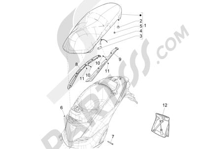 Piaggio Liberty 125 iGet 4T 3V ie ABS (APAC) 2015 Sillín asientos