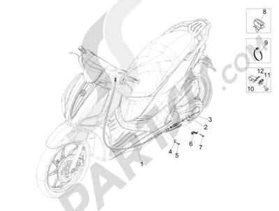 Piaggio Liberty 125 iGet 4T 3V ie ABS (APAC) 2015 Transmisiónes