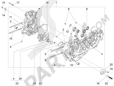 Piaggio Liberty 125 iGet 4T 3V ie ABS (EMEA) 2015 Cárter