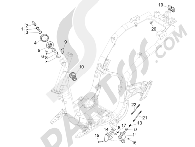 Piaggio Liberty 125 iGet 4T 3V ie ABS (EMEA) 2015 Cerraduras