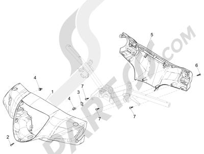 Piaggio Liberty 125 iGet 4T 3V ie ABS (EMEA) 2015 Coberturas manillar