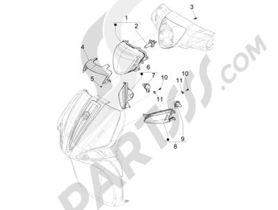 Piaggio Liberty 125 iGet 4T 3V ie ABS (EMEA) 2015 Faros delanteros - Indicadores de dirección