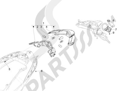Piaggio Liberty 125 iGet 4T 3V ie ABS (EMEA) 2015 Faros traseros - Indicadores de dirección