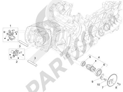 Piaggio Liberty 125 iGet 4T 3V ie ABS (EMEA) 2015 Grupo soporte balancines