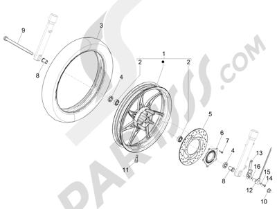 Piaggio Liberty 125 iGet 4T 3V ie ABS (EMEA) 2015 Rueda delantera
