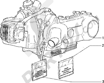 Piaggio Liberty 125 Leader 1998-2005 Motor