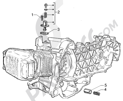 Piaggio Liberty 125 Leader RST 1998-2005 Tensor de cadena - valvula by-pass