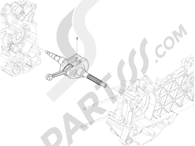 Piaggio Liberty 150 4T 3V ie LEM 2013-2014 Cigüeñal