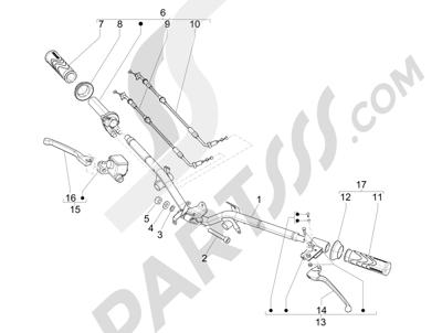 Piaggio Liberty 150 4T 3V ie LEM 2013-2014 Manillar - Bomba freno