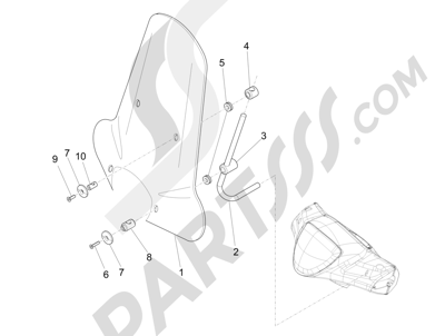 Piaggio Liberty 150 4T 3V ie LEM 2013-2014 Parabrisas - Cristales