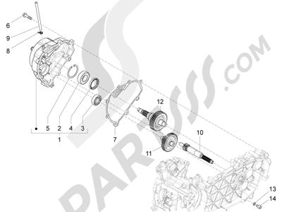 Piaggio Liberty 150 4T 3V ie LEM ( Vietnam ) 2013-2014 Grupo reductor