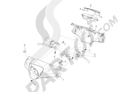 Piaggio Liberty 150 4T E3 MOC 2009-2013 Coberturas manillar