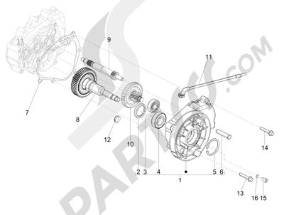 Piaggio Liberty 150 4T E3 MOC 2009-2013 Grupo reductor