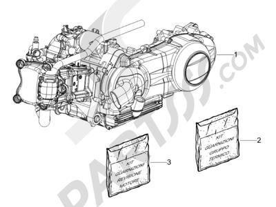 Piaggio Liberty 150 4T E3 MOC 2009-2013 Motor completo