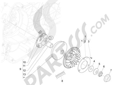Piaggio Liberty 150 4T E3 MOC 2009-2013 Polea conductora