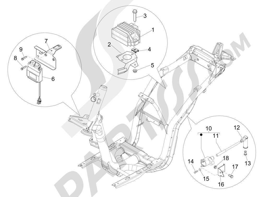 Piaggio Liberty 150 4T E3 MOC 2009-2013 Reguladores de tensión - Centralitas electrónicas - Bobina A.T.