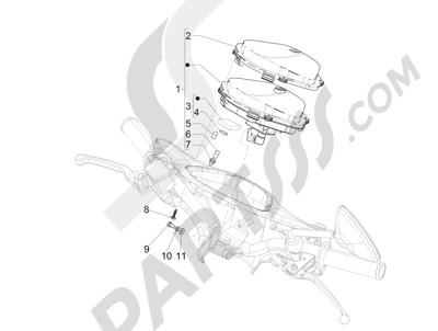 Piaggio Liberty 150 4T E3 MOC 2009-2013 Tablero de instrumentos - Cruscotto
