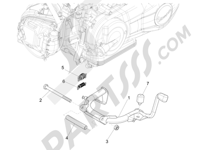 Piaggio Liberty 150 iGet 4T 3V ie ABS (EMEA) 2015 - 2016 Caballete s