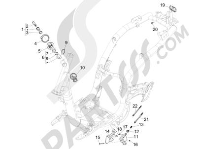 Piaggio Liberty 150 iGet 4T 3V ie ABS (EMEA) 2015 - 2016 Cerraduras