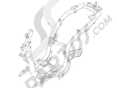 Piaggio Liberty 150 iGet 4T 3V ie ABS (EMEA) 2015 - 2016 Chasis carrocería