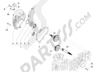 Piaggio Liberty 150 iGet 4T 3V ie ABS (EMEA) 2015 - 2016 Grupo reductor