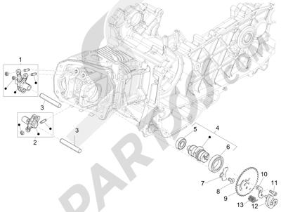 Piaggio Liberty 150 iGet 4T 3V ie ABS (EMEA) 2015 - 2016 Grupo soporte balancines
