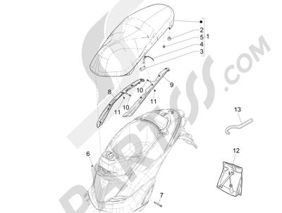 Piaggio Liberty 150 iGet 4T 3V ie ABS (EMEA) 2015 - 2016 Sillín asientos