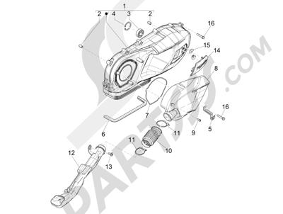 Piaggio Liberty 150 iGet 4T 3V ie ABS (EMEA) 2015 - 2016 Tapa cárter - Refrigeracion cárter